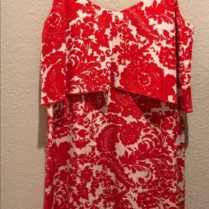 Exclusive for Intermix silk white and red dress